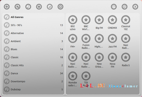Great Little Radio Player - free Internet radio player in Linux Mint