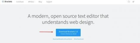 Brackets - free editor for web designers and developers in Linux Mint