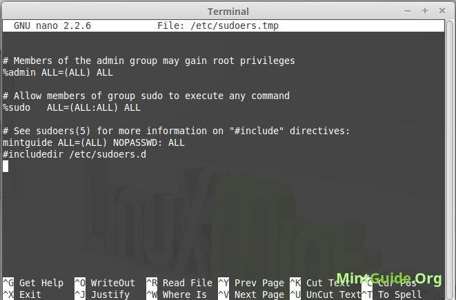 How to make SUDO without a password on Linux Mint • MintGuide.Org