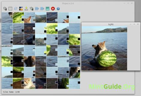 Picpuz - compilation of images from the puzzles on Linux Mint