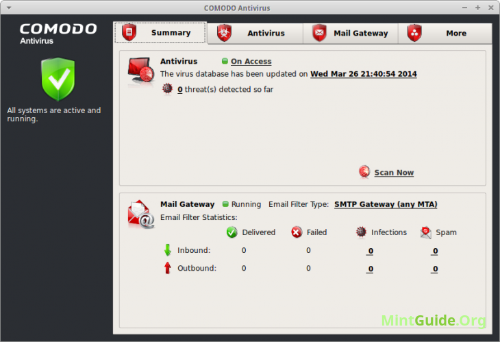 Comodo - free antivirus for Linux Mint
