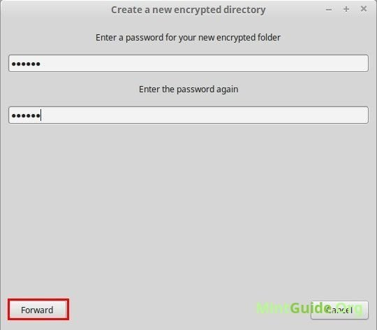 Cryptkeeper - set a password on a folder in Linux Mint
