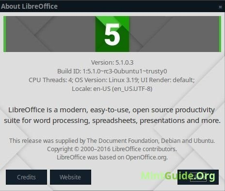 Install LibreOffice 5.1 on Linux Mint