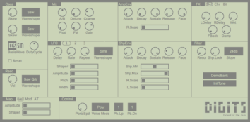 Digits - synthesizer based on phase distortion