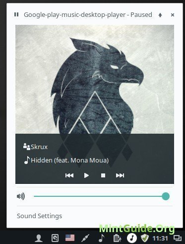 GPMDP - Google Play Music Desktop Player on Linux Mint