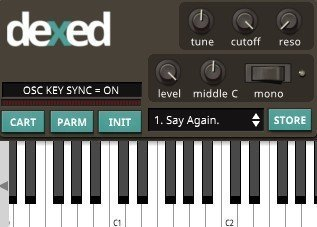 Dexed - FM plugin synth of Yamaha DX7