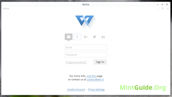 Write! - text editor for distraction-free writing